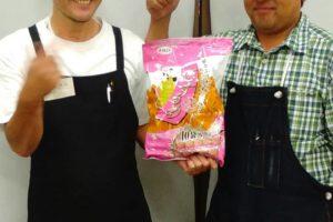 本店店長(斉藤)と、珍味屋さんの社長さん