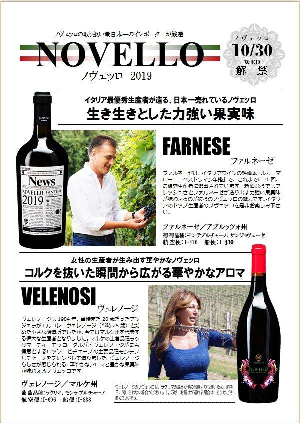 ノヴェッロワインの詳細です。